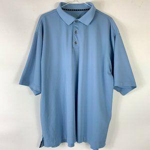 Footjoy Golf Polo Shirt Men Sz 2XL Blue